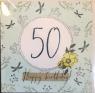 Karnet Swarovski kwadrat Urodziny 50 (CL2250)