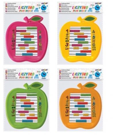 Liczydło plastikowe 10-rzędowe jabłko Fun&Joy mix
