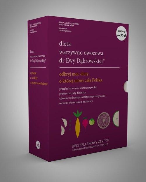 Pakiet Dieta warzywno-owocowa dr Ewy Dąbrowskiej Dąbrowska Beata, Borkowska Paulina
