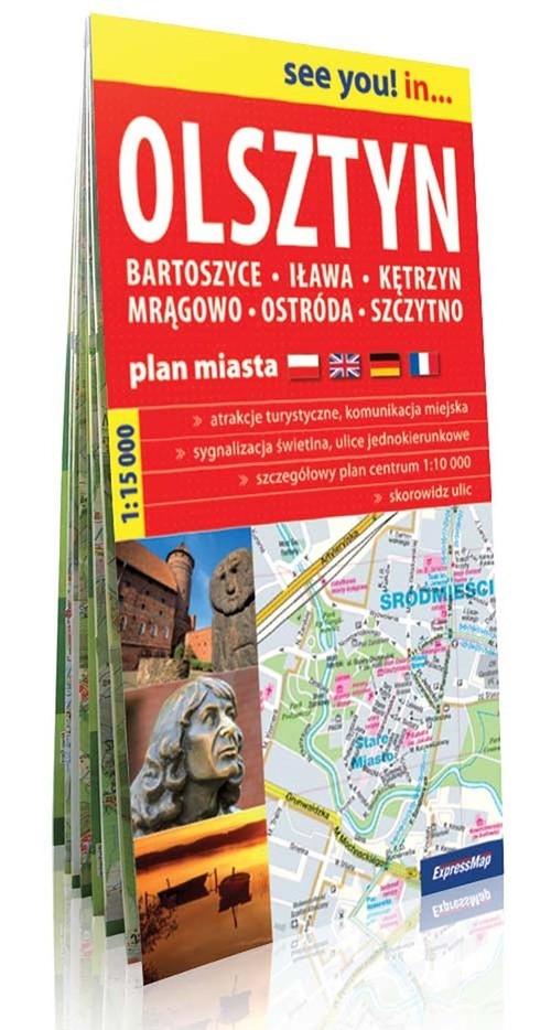 Olsztyn Bartoszyce Iława Plan miasta 1:15000 Praca zbiorowa