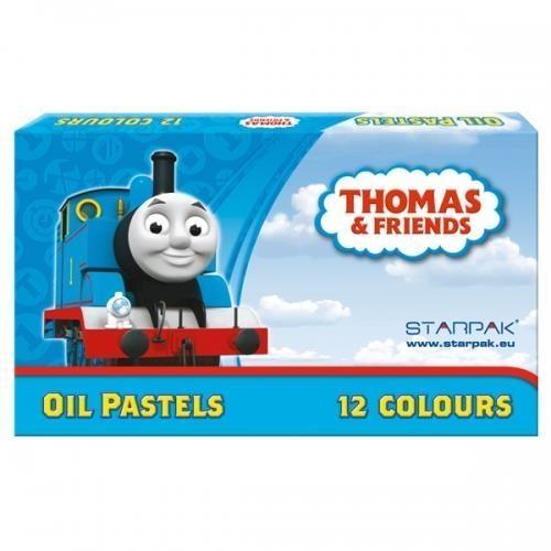 Pastele olejne 12 kolorów Tomek i przyjaciele