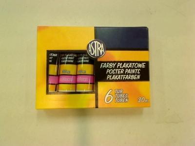 Farby plakatowe różowe, tuba 30 ml