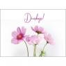 Kartka - Dziękuję - Różowe anemony
