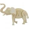 Puzzle drewniane 3D Słoń