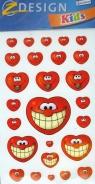Naklejki Z Design Kids Uśmiechnięte serduszka