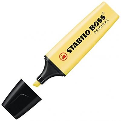 Zakreślacz Boss pastelowy żółty 70/144