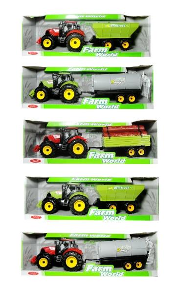 Traktor z przyczepą mix