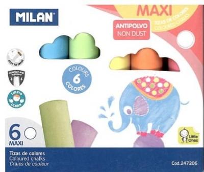 Kreda maxi okrągła 6 kolorów MILAN