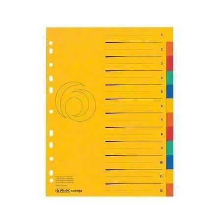 Przekładki A4 kartonowe 12-cz XXL Colorspan