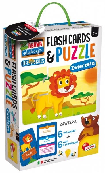Zabawa i edukacja - Puzzle dziecięce i flashcards - Zwierzęta (304-PL72675)