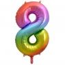 Balon foliowy Godan cyfra 8 tęczowy 85cm 40cal (HS-C34T8)