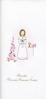 Karnet Komunia DL K02 Dziewczynka kwiaty (K02)
