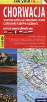 Słowenia, Bośnia i Hercegowina, Serbia, Czarnogóra, Kosowo, Macedonia Mapa samochodowa 1:650 000