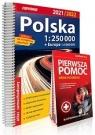 Atlas samachodowy Polska 1:250 000 2021/2022 + PP praca zbiorowa