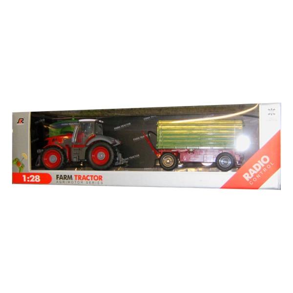 DROMADER Traktor z przyczepą na radio (690341)