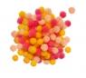 Zestaw Pomponów żółte, koralowe, brzoskwiniowe 100