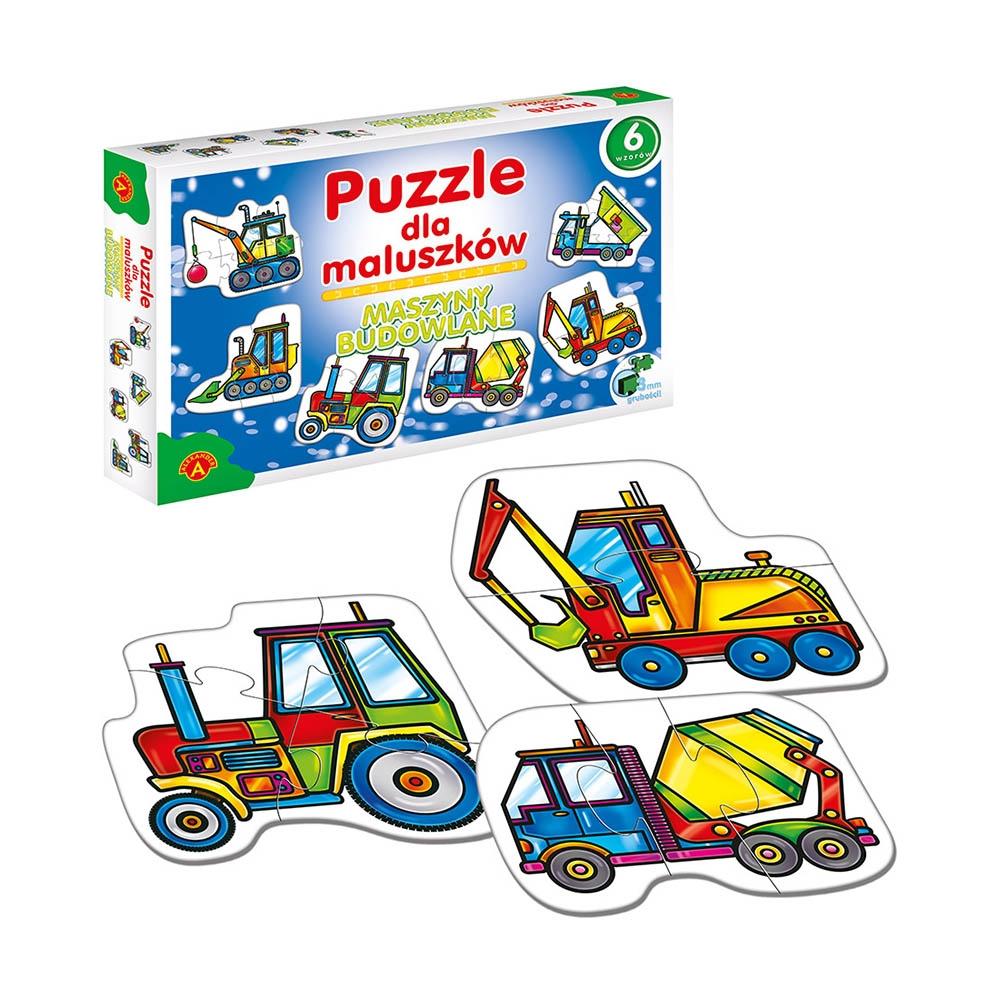 Puzzle dla maluszków: Maszyny budowlane (0541)