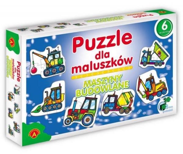Puzzle dla maluszków. Maszyny budowlane (0541)