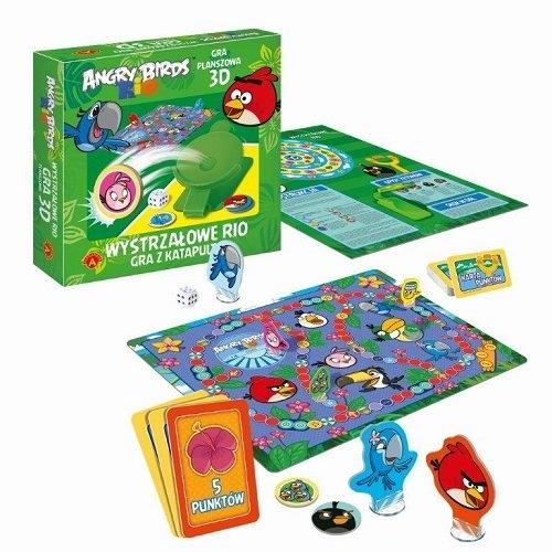 Gra 3D Wystrzałowe Rio Angry Birds