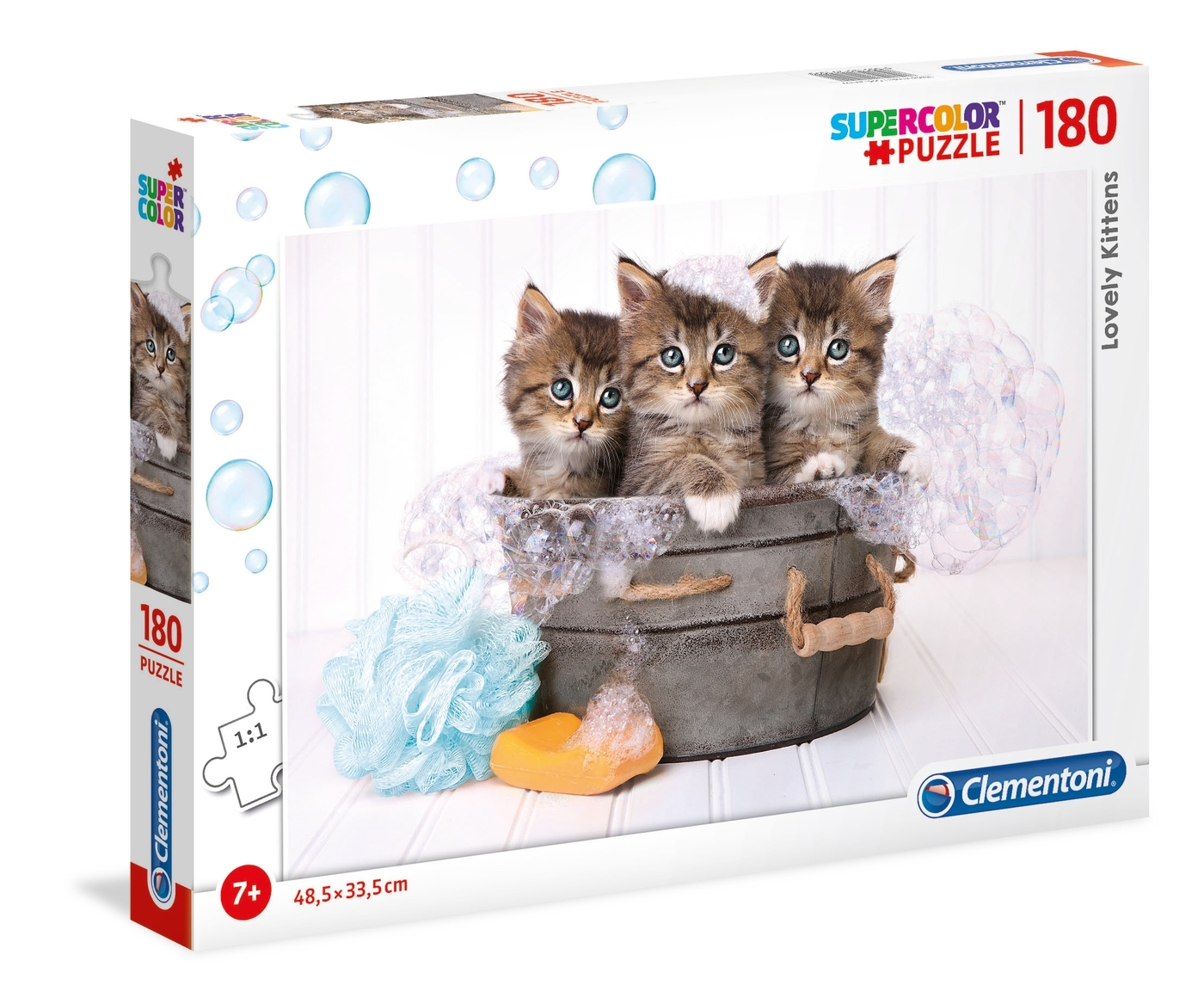Puzzle SuperColor 180: Lovely kittens (29109)