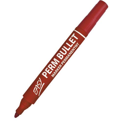 Marker permanentny okragły czerwony 10 sztuk