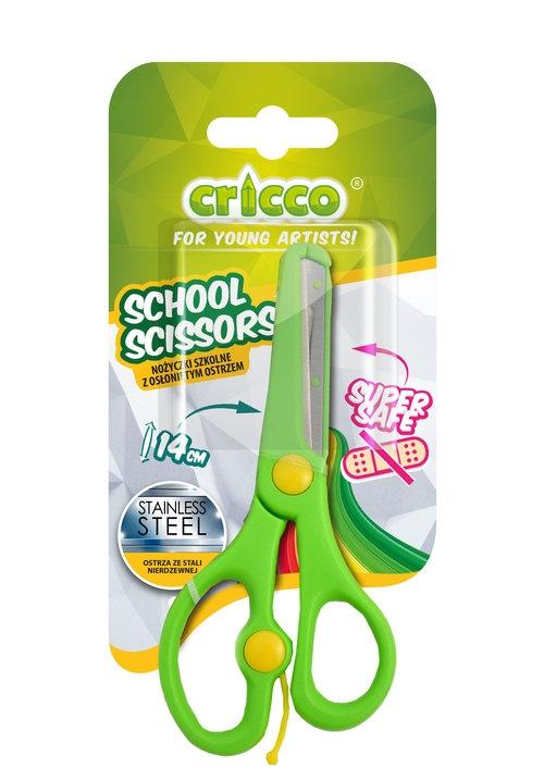 Nożyczki szkolne Cricco z osłoniętym ostrzem 14 cm (CR420)
