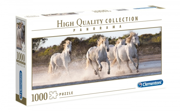 Puzzle 1000 High Quality Collection: Panorama Running Horses (39441)
