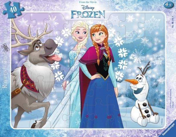 Puzzle ramkowe 40: Kraina Lodu, Anna i Elsa (061419)