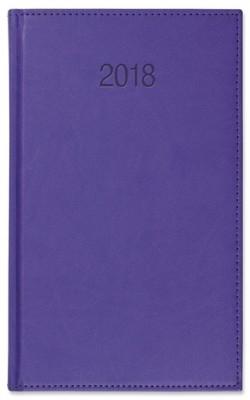 Kalendarz książkowy A5 dzienny Vivo fioletowy 2018 GM-917-T11-BIAŁY