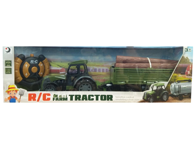 Traktor RC z przyczepą i drewnem (116419)