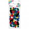 Pompony akrylowe, 68 szt. - mix kolorów (282919)