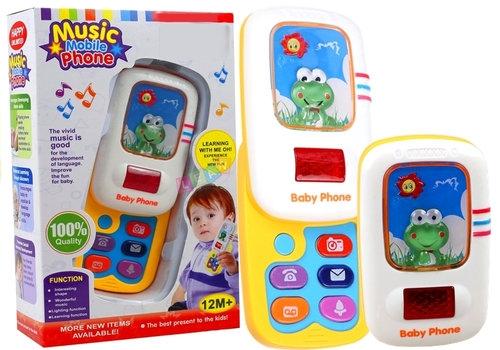 Telefon edukacyjny dla maluszka telefonik z żabką