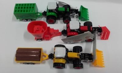 Traktor z napędem .