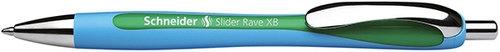 Długopis automatyczny Schneider Slider Rave, XB, zielony