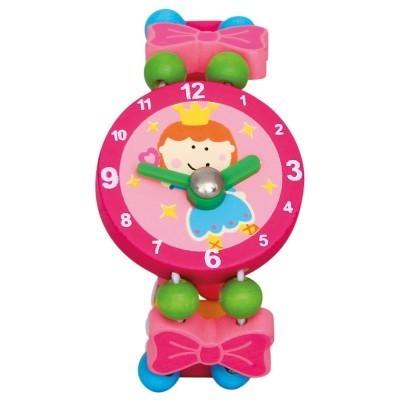 Zegarek drewniany różowy (9086042)