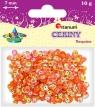 Cekiny okrągłe perłowo-tęczowe pomarańczowe 7mm 10g.(CO7/88)