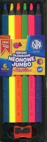 Kredki ołówkowe Jumbo neonowe 6 kolorów