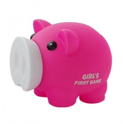 Skarbonka Świnka Girl's First Bank różowa MAPED