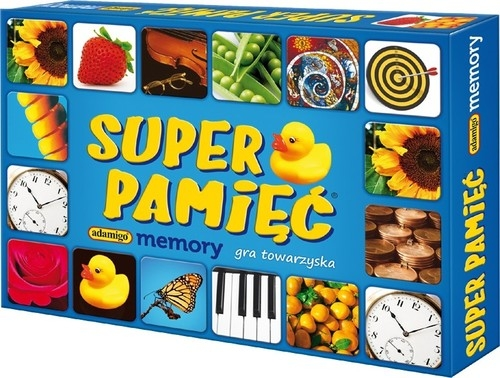 Super pamięć Memory Gra towarzyska (1422) (Uszkodzone opakowanie)