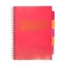 Kołozeszyt A4/100k Pukka Pad Project Book - różowy (8247-BLS)