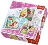 Puzzle 3w1 Disney Księżniczki Roszpunka Aurora Arielka (34842)