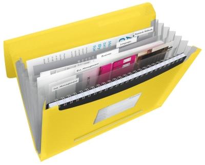 Teczka z przegródkami Esselte Vivida A4 kolor: żółty 6 przegródek 330 x 260 (624020)