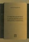 O prowadzeniu i analizowaniu polityki państwa  Stemplowski Ryszard