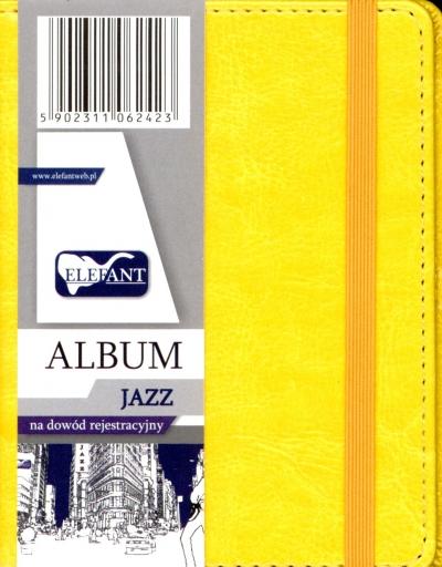 Album na dowód rejestracyjny żółty .