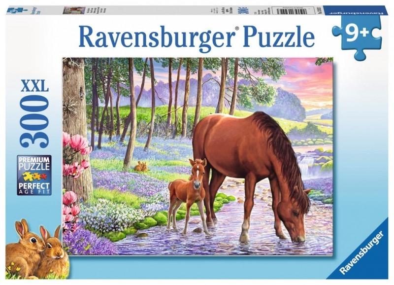 Puzzle XXL 300: Konie O Zachodzie Słońca (13242)