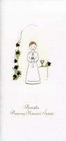 Karnet Komunia DL K03 Chłopiec winogrona (K03)