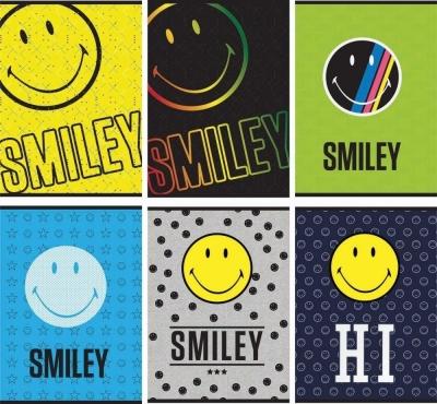 Zeszyt A4 Smiley w kratkę 54 kartki 10 sztuk mix