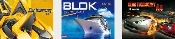 Blok techniczny A4/10K 10 szt.