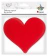 Papierowe serca czerwone 152x134 mm 12szt
