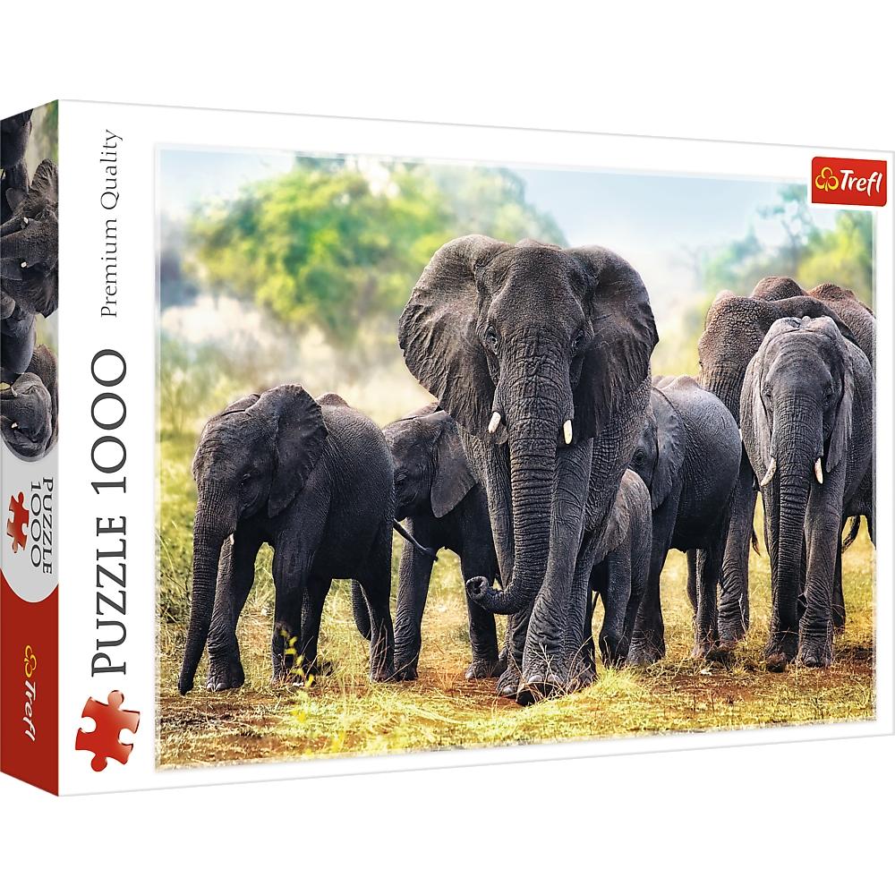 Puzzle 1000: Afrykańskie słonie (10442)